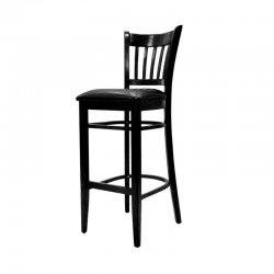 כסא בר ארז מרופד