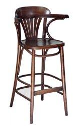 כסא בר מניפה עם ידיות