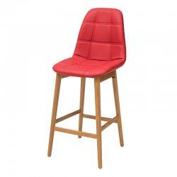 כסא בר נועם רגל קונוס מעץ