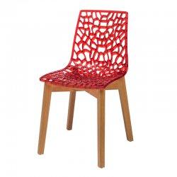 כסא דייזי רגל עץ