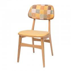 כסא עמית מרופד במושב ובגב