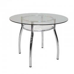 שולחן רותם זכוכית
